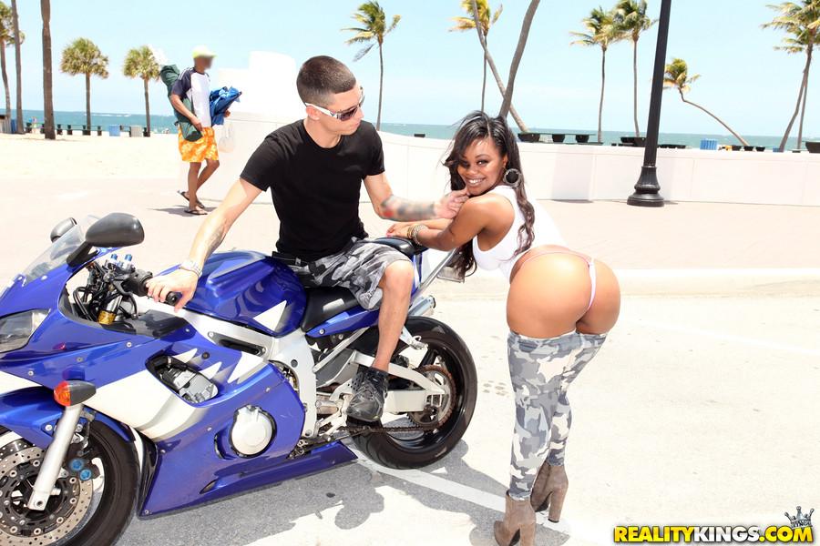 Motorcycle teen on